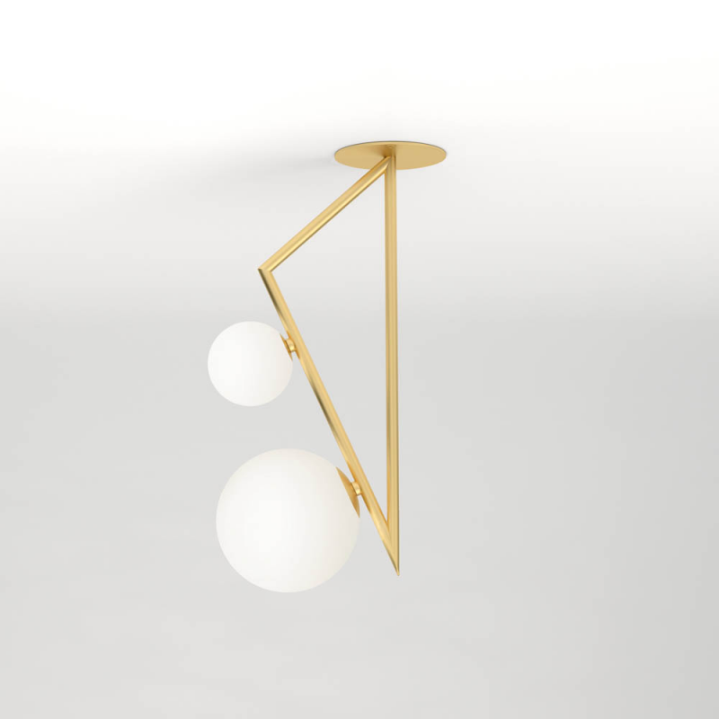 triangle and globe ceiling light by atelier areti
