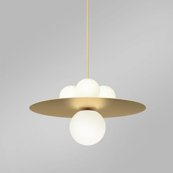 PLATE AND SPHERE PENDANT LIGHT by Atelier Areti