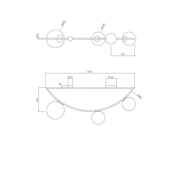 guirlande ceiling light 1M diagram by atelier areti