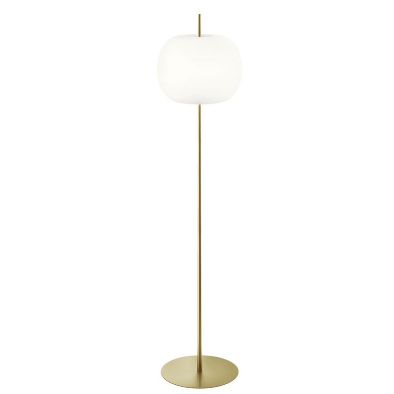 Kushi XL floor lamp by Kundalini in brass