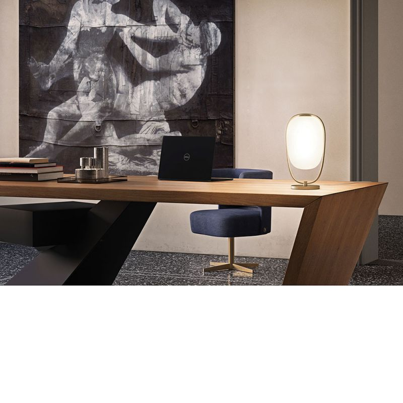 Lanna table lamp by Kundalini in office