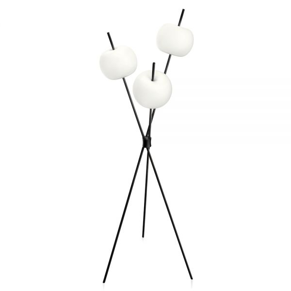 black kushi floor lamp by kundalini