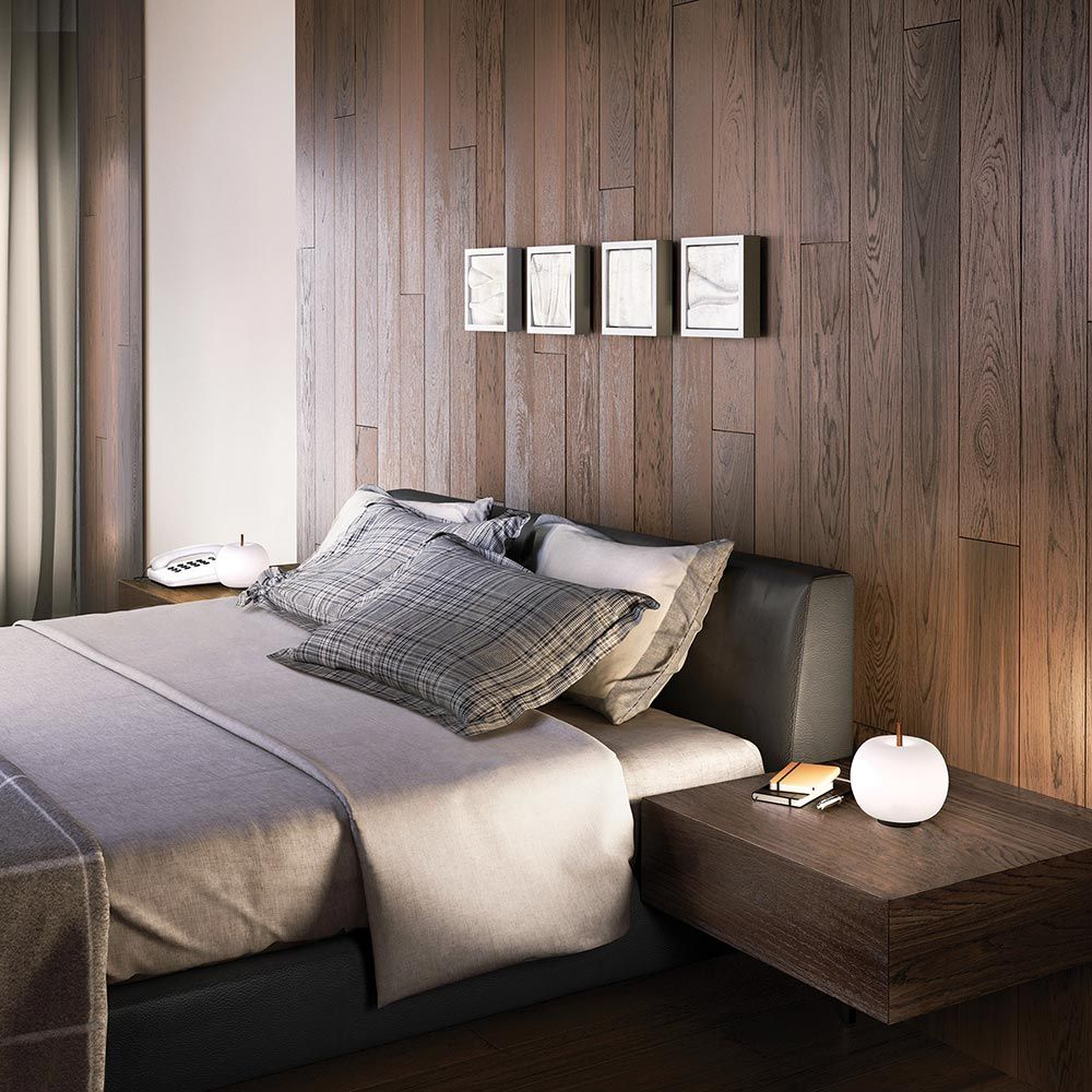 kushi table lamp in a room by kundalini