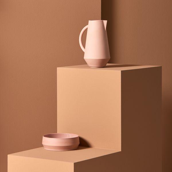Carafe unison schneid studio couleur rose avec coupe