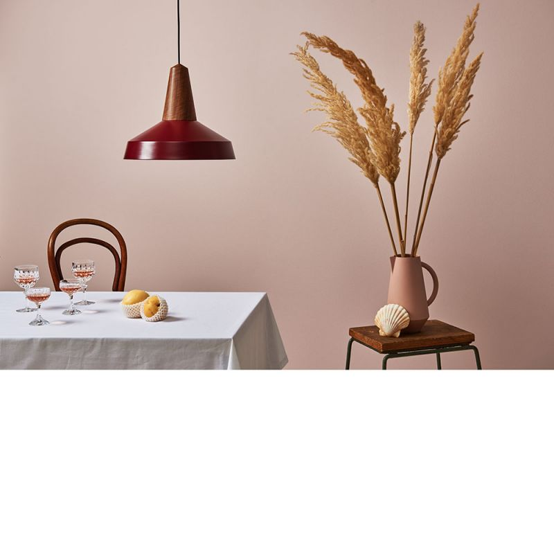 unison carafe by Schneid studio in pink styled in dining room