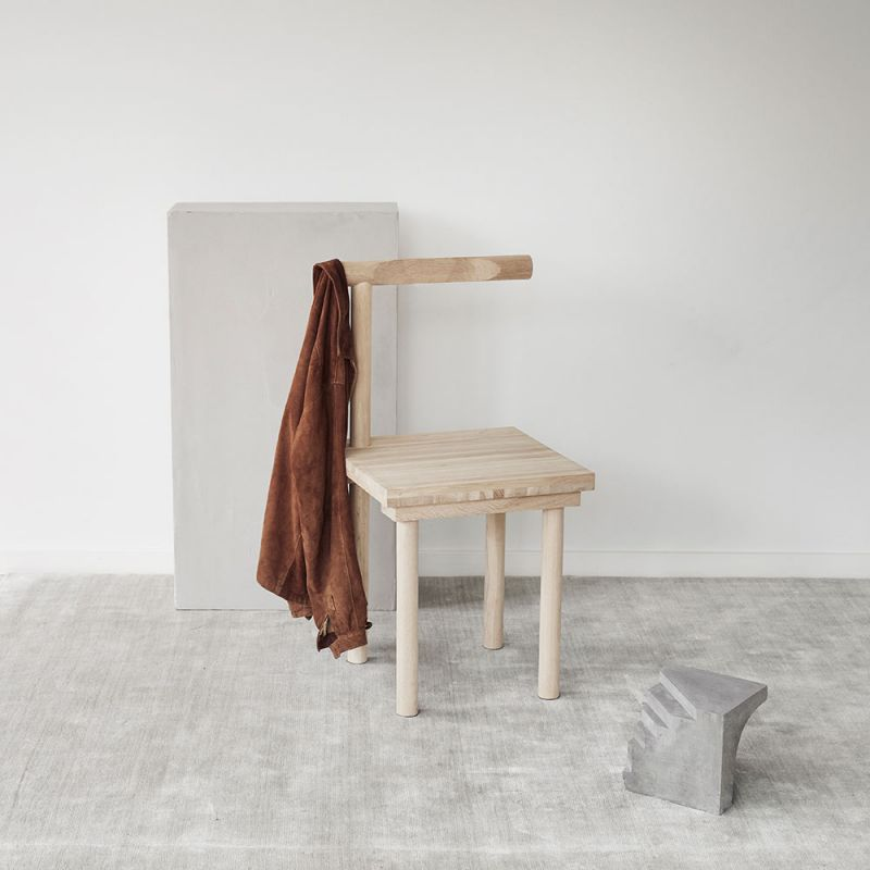 Sculptural chair by Kristina Dam, with fabric