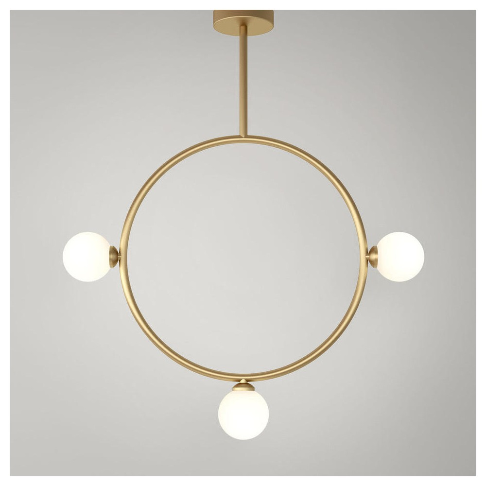 circle ceiling light by atelier Areti