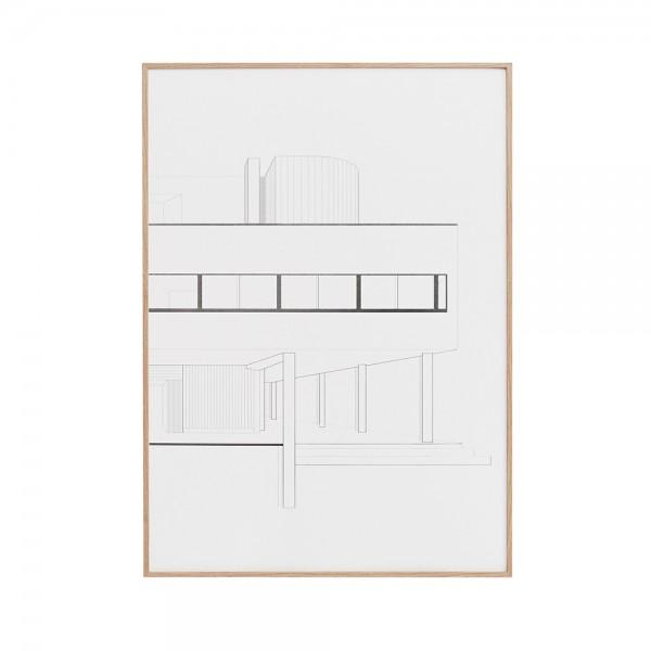 Villa Savoye art poster