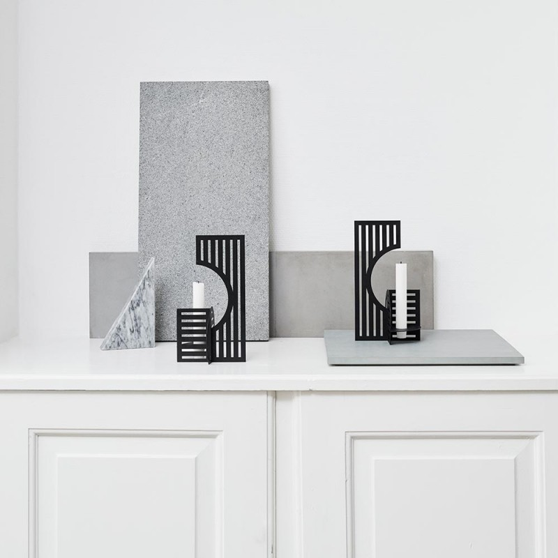Dash Candlestick by Kristina Dam styled in interior setting