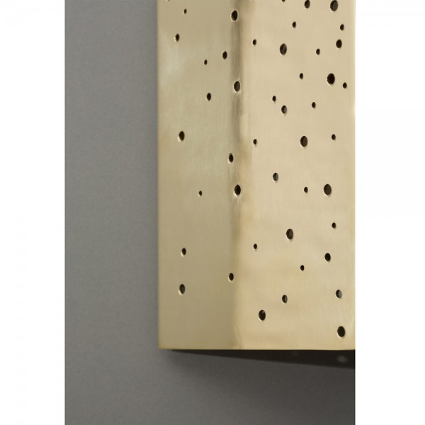 Close up of the Constellation wall light in brass