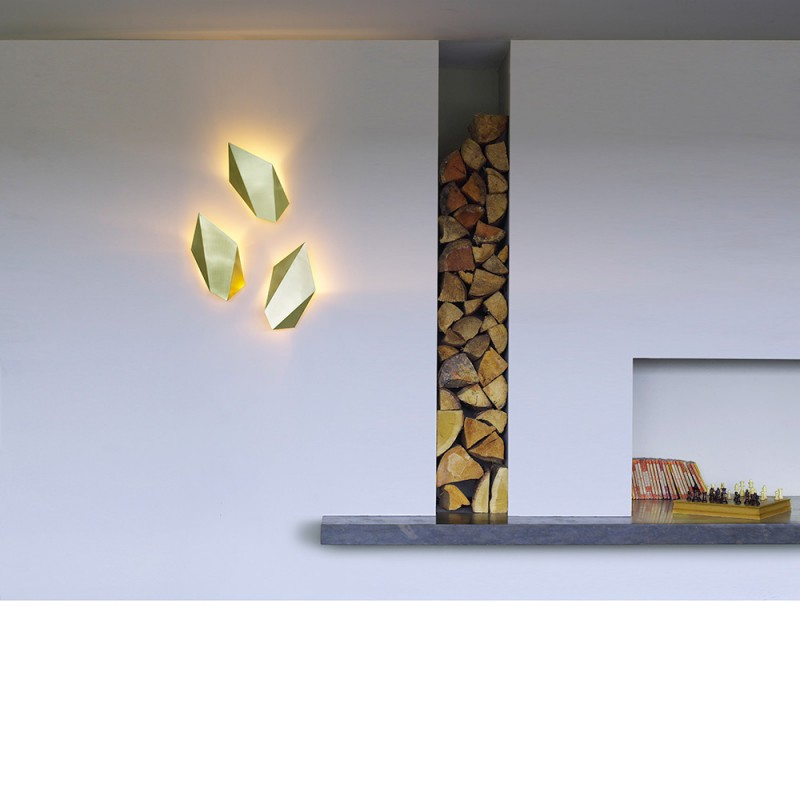 CTO Abstract wall light styled in interior setting