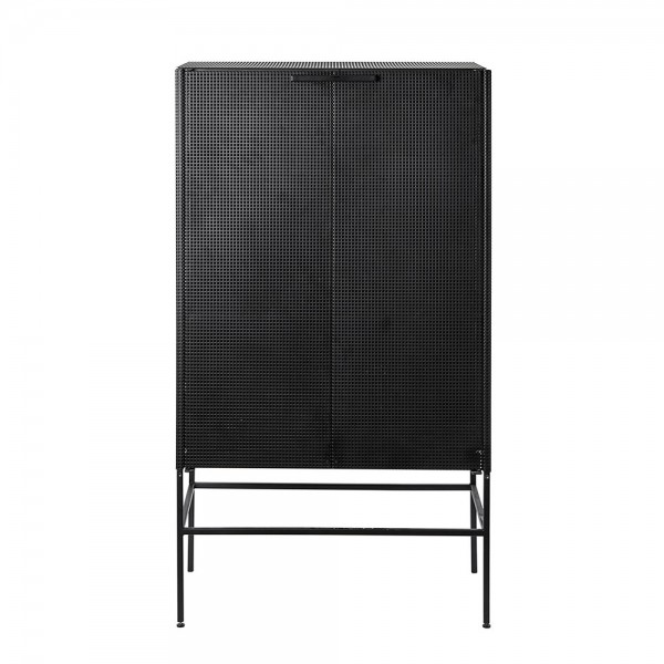 Grid cabinet in perforated steel