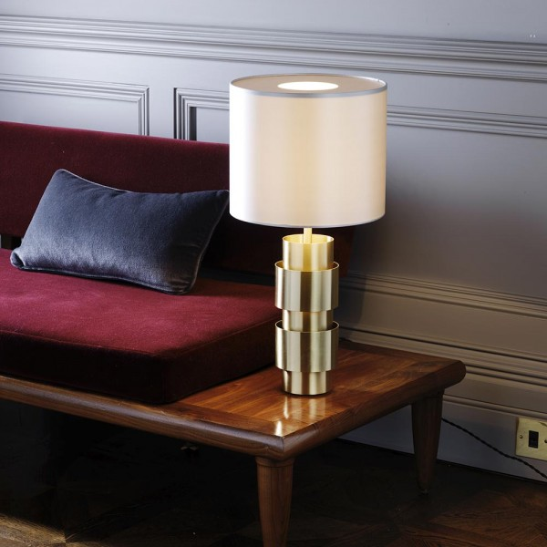 Ring Lamp styled in interior setting