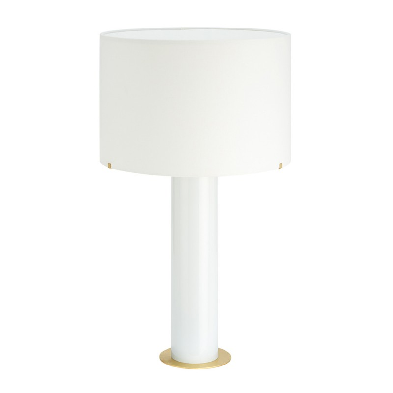 Imperial table lamp CTO Lighting with white linen shade
