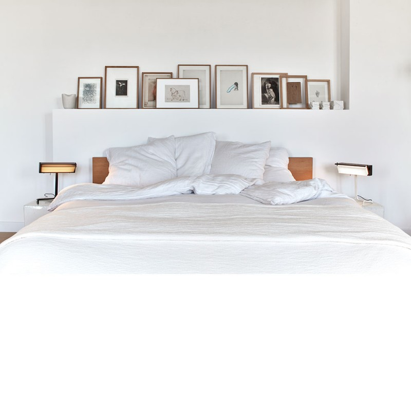 Biny table lamp DCW Editions in bedroom