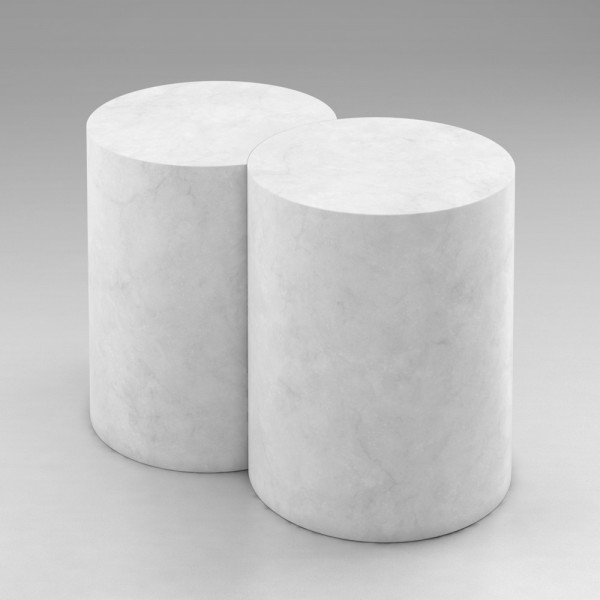 TABLE CYLINDER & CUT ROUND by Atelier Areti