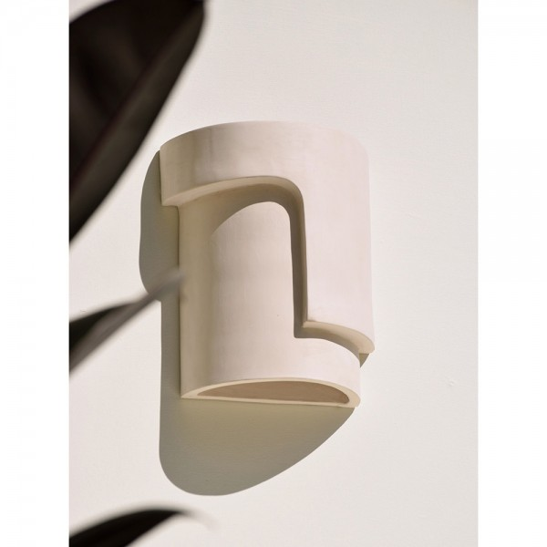 Fragment ceramic wall light
