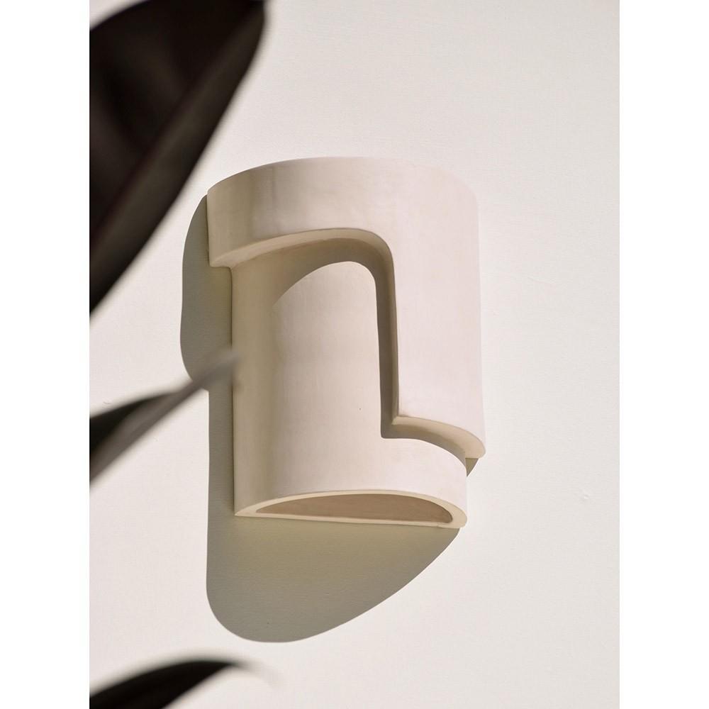 Applique Fragment en céramique blanc