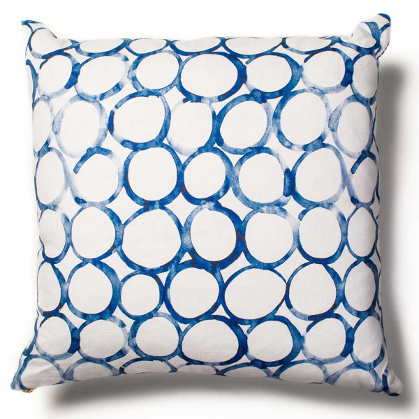 overlapping circles cushion cover by rebecca atwood