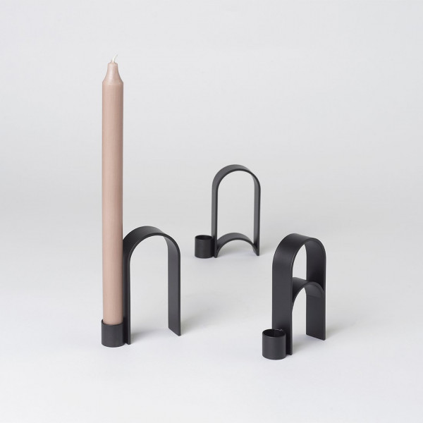Arch Candleholder Black 3 versions