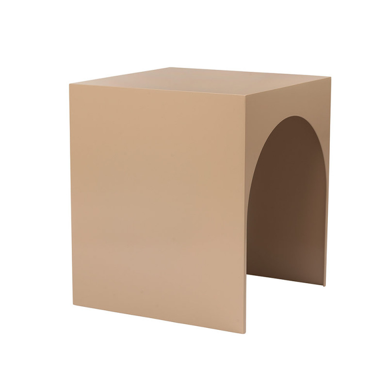 Kristina Dam Arch table large in tobacco powder coated steel
