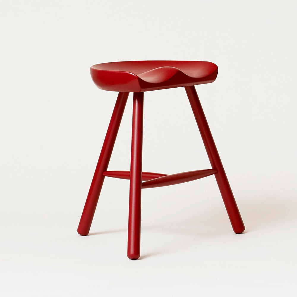 Shoemaker stool red 49 Form and Refine