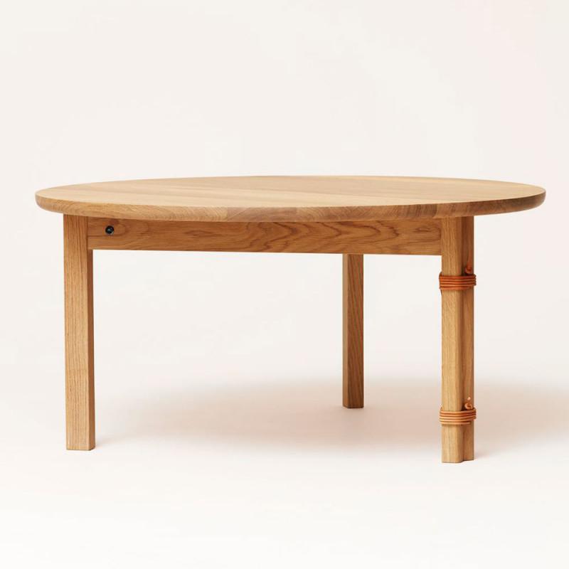 Strap Sofa Table oak Form and Refine
