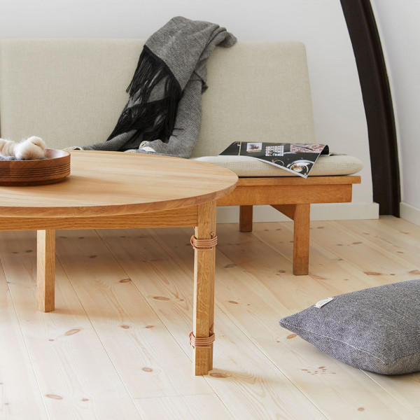 Table strap sofa by Form and Refine