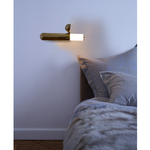 ISP wall light by DCW Editions in bedroom