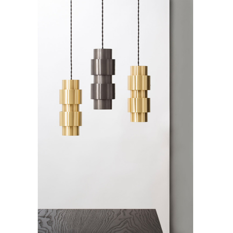 Ring pendant by CTO Lighting, brass and bronze