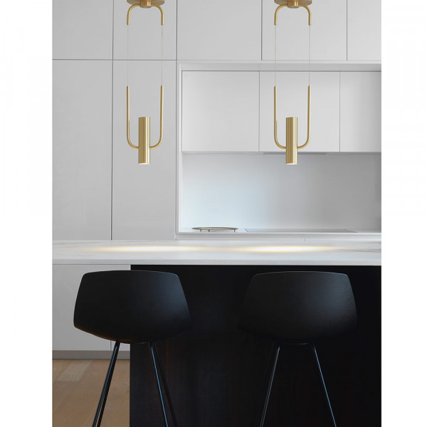 Storm pendant, CVL Luminaires styled in a kitchen.
