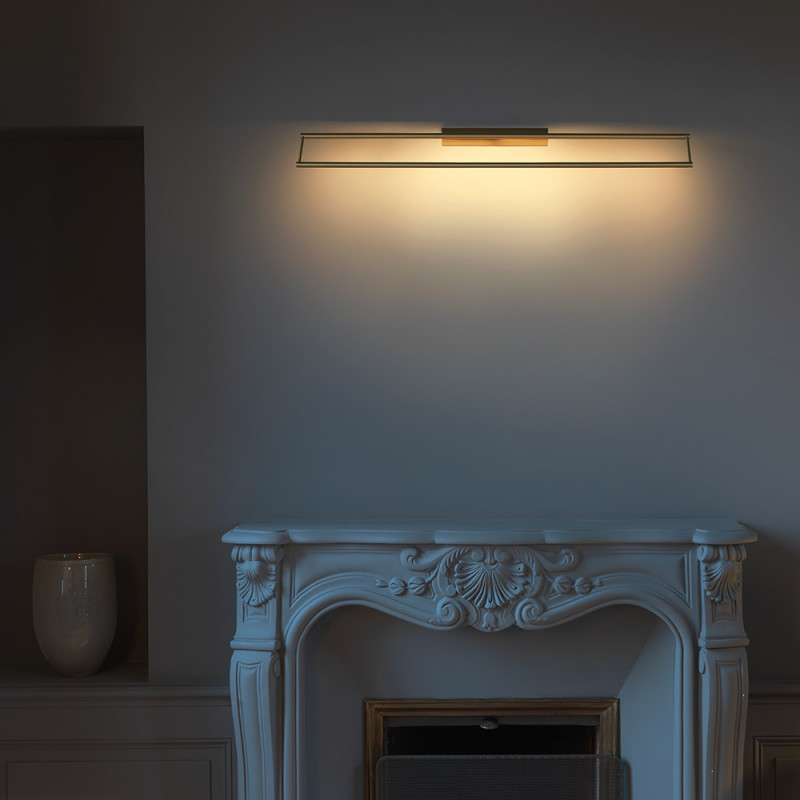 Link wall light by CVL Luminaires styled in an interior setting