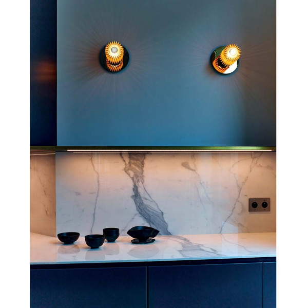 In The Sun wall light by DCW Editions styled in a kitchen