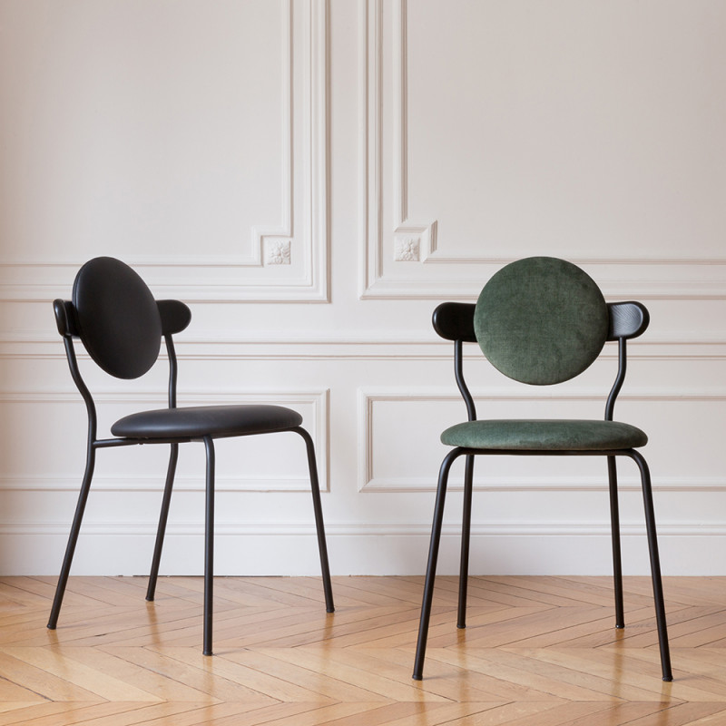 planet chair black and green