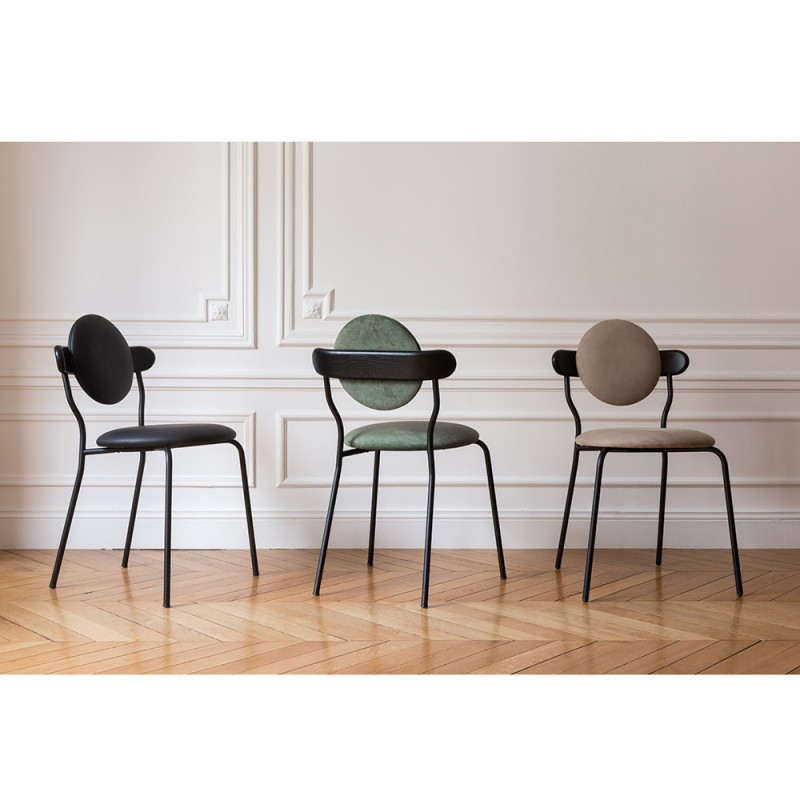 planet chair green black beige