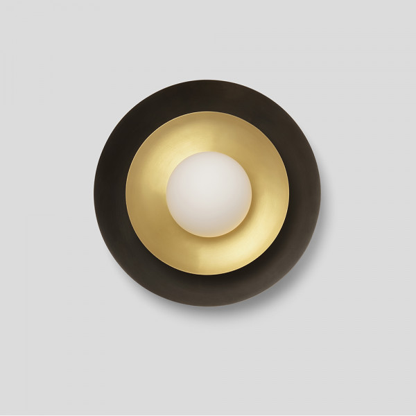 Carapace wall light by CTO Lighting, off