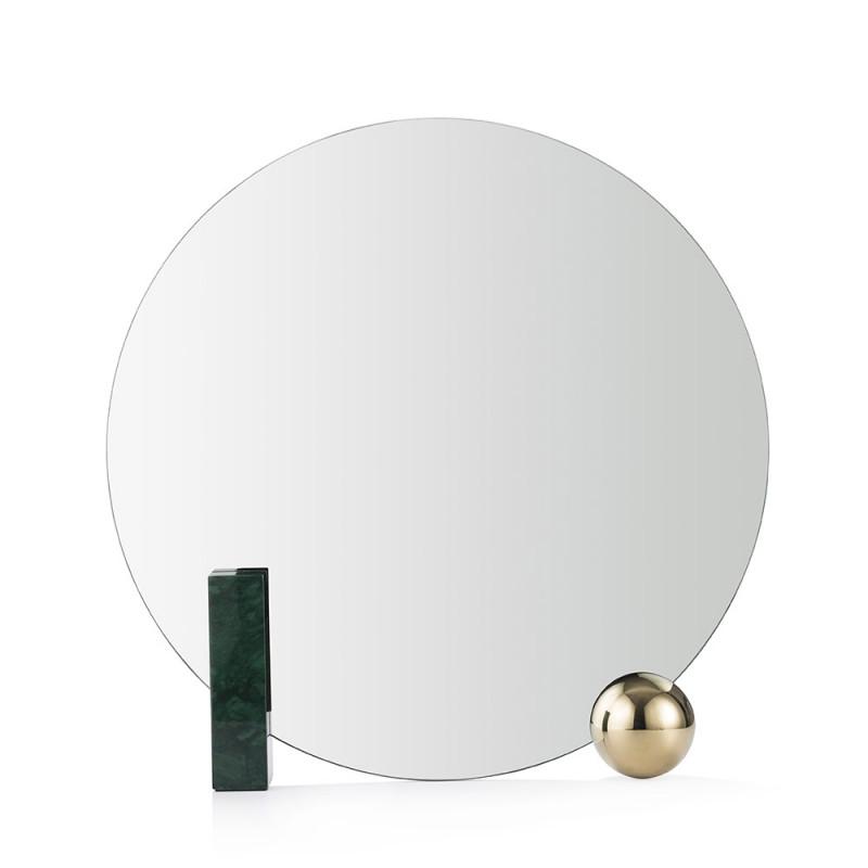 Miroir Looking For Dorian vert de face