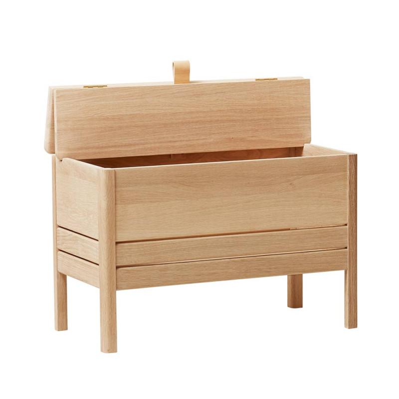 A line storage bench 68 chêne blanchi ouvert