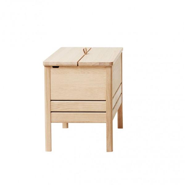 A line storage bench 68 chêne blanchi by form and refine