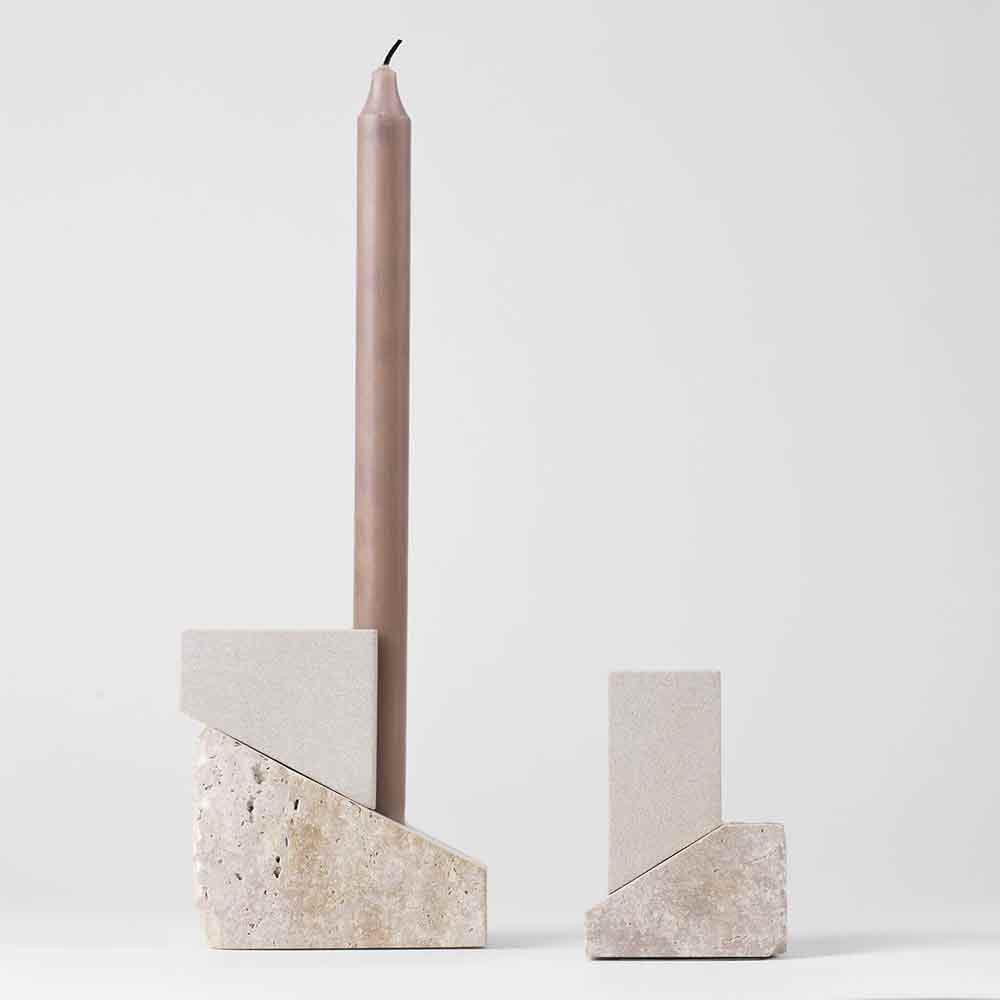 Offset candleholder by Kristina Dam