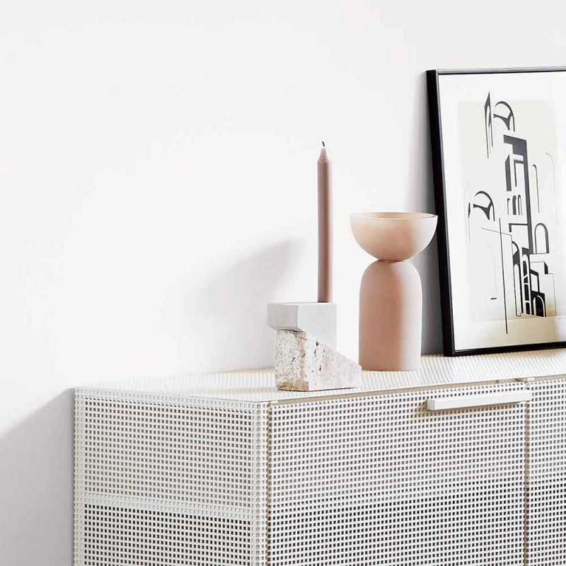 Offset candleholder vol 1 by Kristina Dam styled in interior setting