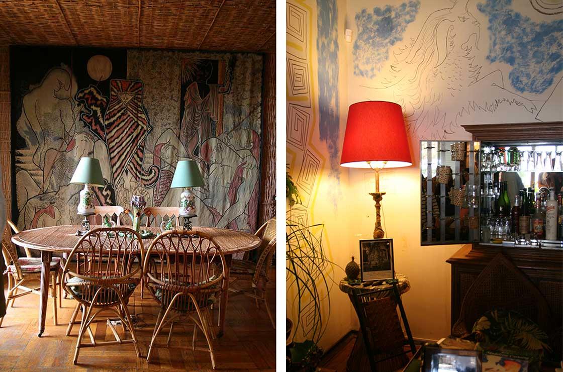 Dining room and bar, Villa Santo Sospir
