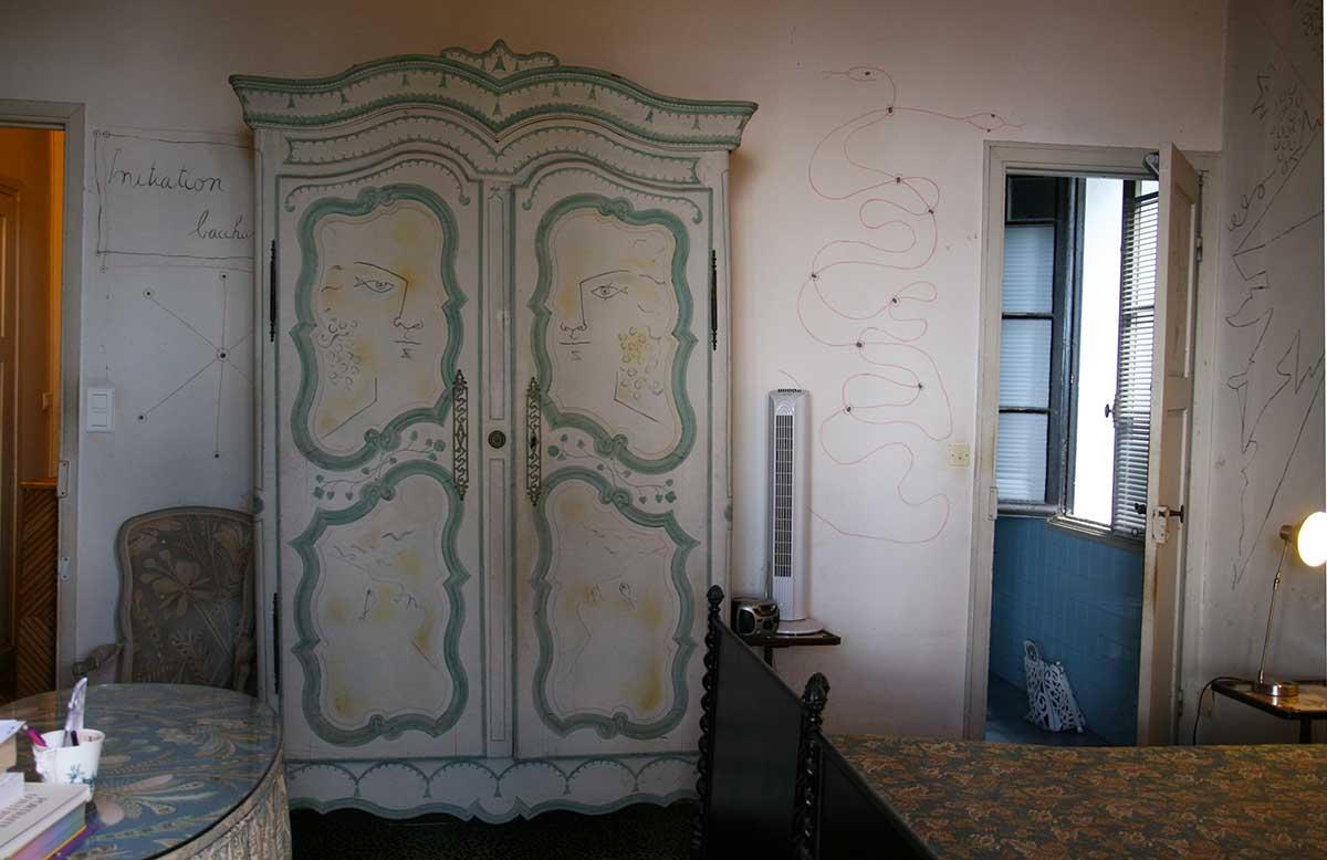 Carole Weisweiller's bedroom in Villa Santo Sospir