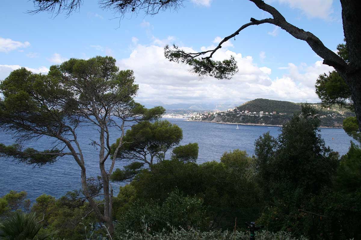 The view towards Nice from Villa Santo Sospir