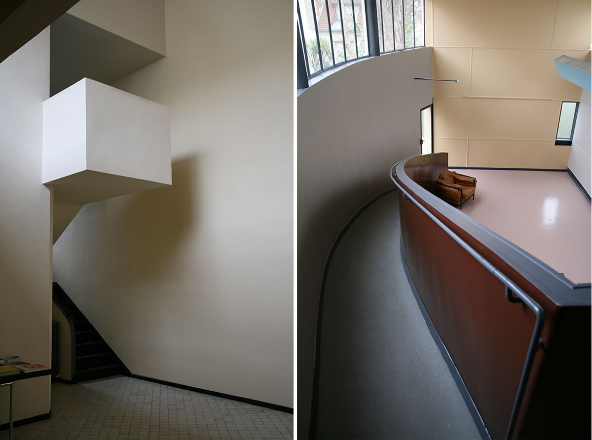 The stairs and ramp of Maison La Roche