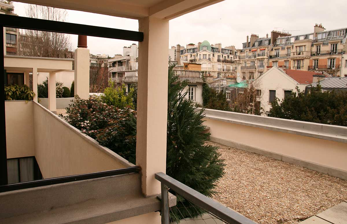 The roof garden of Maison La Roche Le Corbusier