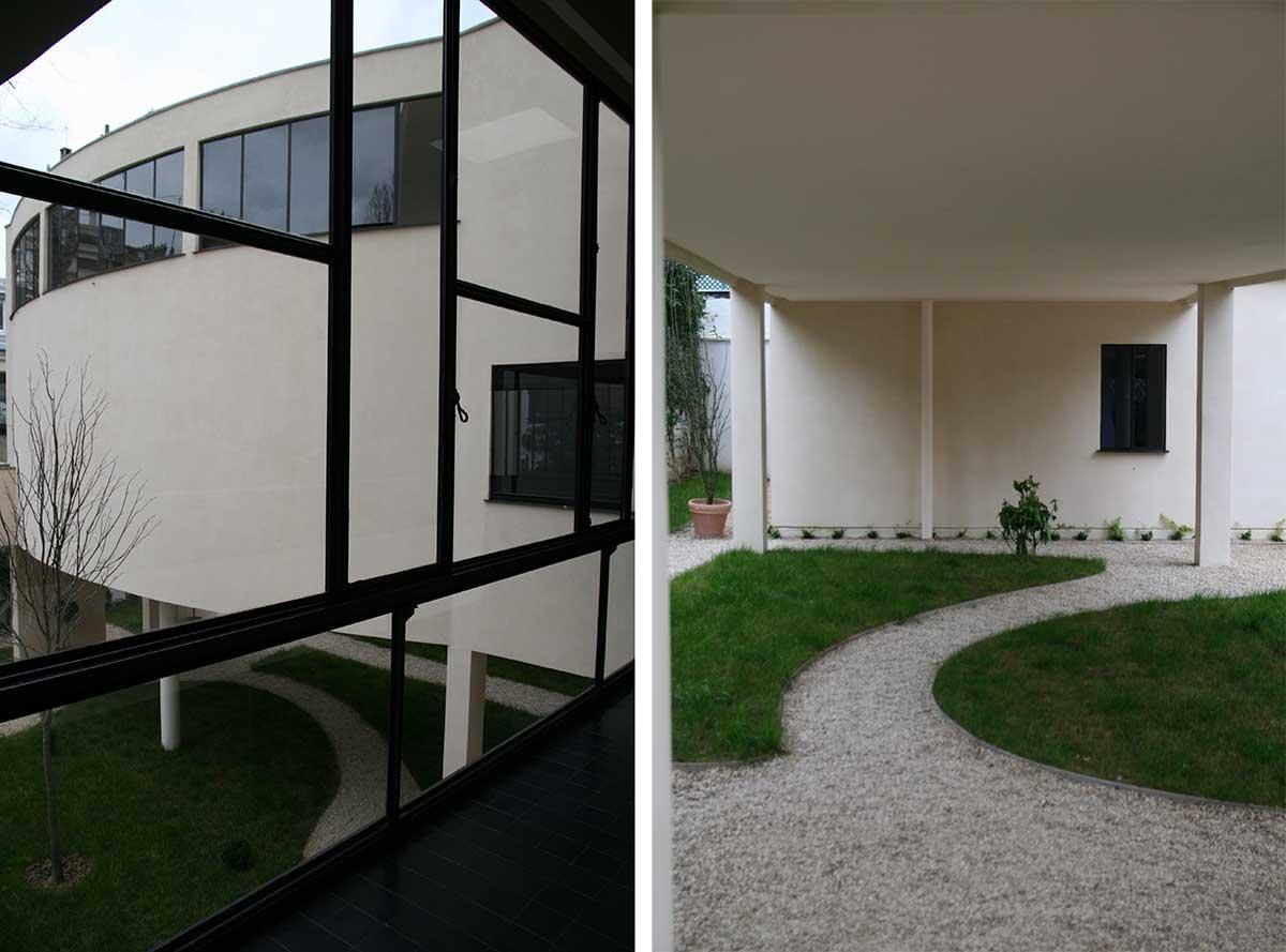 The art gallery on pilotis - Maison La Roche Le Corbusier