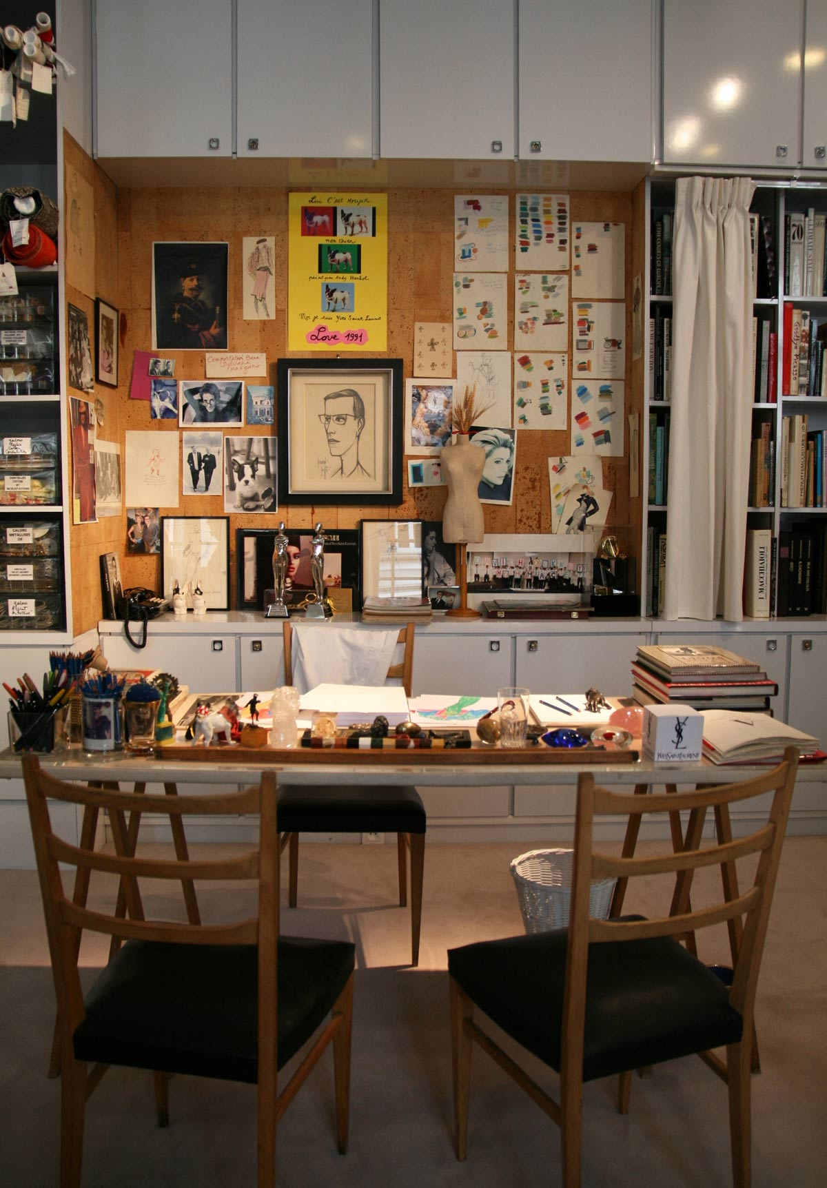 Yves Saint Laurent's Studio
