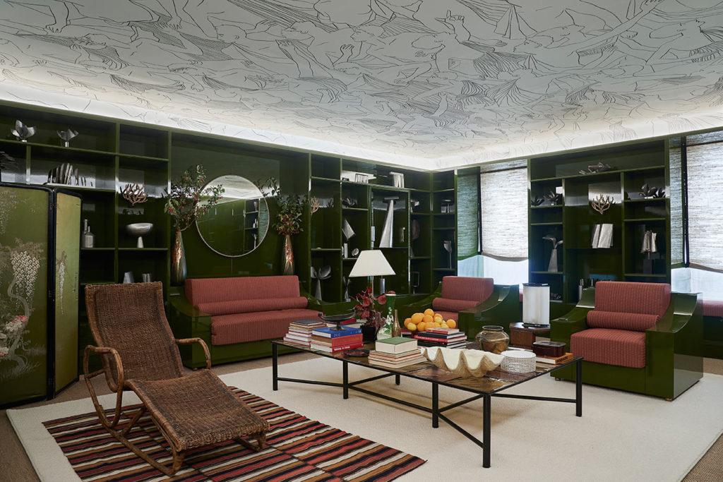 Roberto Ruspoli's ceiling for AD Intérieurs