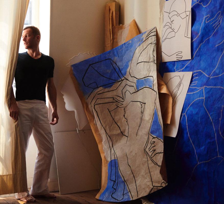 Roberto Ruspoli in his atelier in Paris